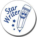 Star Writer Stamper - Blue Ink (21mm)