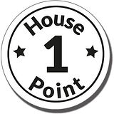 1 House Point Stamper - Black Ink (25mm)
