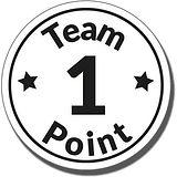 1 Team Point' Stamper - Black Ink (21mm)