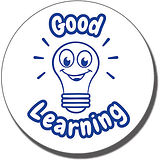 Good Learning Light Bulb Stamper - Blue Ink (21mm)