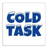 'Cold Task' Stamper - Blue Ink (25mm)