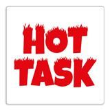 Hot Task' Stamper - Red Ink (25mm)