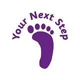 Your Next Step' Footprint Stamper - Purple Ink (25mm)