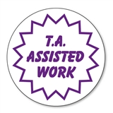 T.A. Assisted Work Stamper - Purple Ink (21mm)