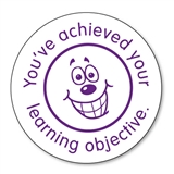 You've Achieved Your Learning Objective Stamper - Purple (25mm)