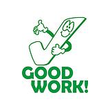 Good Work Tick Stamper - Green Ink (25mm)