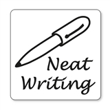 Neat Writing Stamper - Black Ink (25mm)