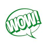 WOW! Speech Bubble Stamper - Green Ink (25mm)