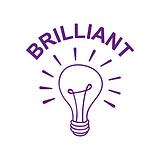 Brilliant Light Bulb Stamper - Purple Ink (25mm)