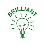 Brilliant Light Bulb Stamper - Green Ink (25mm)