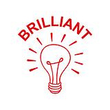 Brilliant Light Bulb Stamper - Red Ink (25mm)