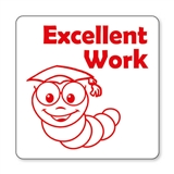 Excellent Work Worm Stamper - Red Ink (25mm)