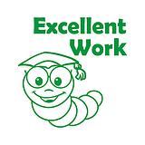 Excellent Work Worm Stamper - Green Ink (25mm)