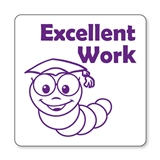 Excellent Work Worm Stamper - Purple Ink (25mm)