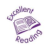 Excellent Reading Stamper - Purple Ink (25mm)
