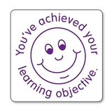 You've Achieved Your Learning Objective Stamper - Purple Ink (21mm)