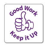 Good Work Keep it Up Thumbs Up Stamper - Purple Ink (25mm)