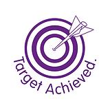 Target Achieved Stamper - Purple Ink (25mm)