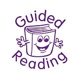 Guided Reading Stamper - Purple Ink (25mm) Brainwaves