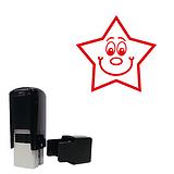 Smiley Star Stamper - Red Ink (15mm) Brainwaves