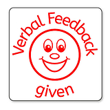 Verbal Feedback Stamper - Red Ink (25mm) Brainwaves