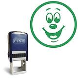 Smiley Face Stamper  - Green Ink (20mm) Brainwaves