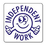 Independent Work Stamper - Blue Ink (25mm)
