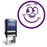 Smiley Face Stamper - Purple Ink (20mm) Brainwaves