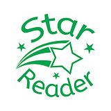 Star Reader Stamper - Green Ink (25mm) Brainwaves