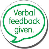 Verbal Feedback Given Stamper (21mm)