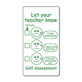 Let Your Teacher Know' Stamper (42mm x 22mm, Green Ink)