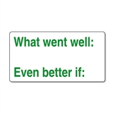 What Went Well … Even Better If' Stamper (42mm x 22mm, Green Ink)