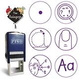 Marking Stampers Pedagogs - Literacy Set of 6 (Purple Ink)