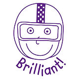 Pedagogs Brilliant Stamper - Purple Ink (25mm)