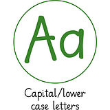 Pedagogs Marking Stamper - Aa Capital/Lower - Green Ink (25mm)