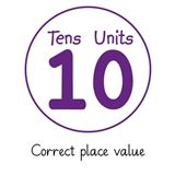 Pedagogs 'Correct Place Value' Stamper - Purple Ink (21mm)