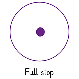 Pedagogs Marking Stamper - Full Stop (Purple Ink -  20mm)