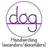 Pedagogs Marking Stamper - Ascenders/Descenders (Purple Ink - 20mm)