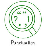 Pedagogs Marking Stamper - Punctuation - Green Ink (25mm)