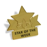 Gold Star Of The Week Metal Badge (approx. 25mm)