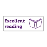 Excellent Reading Stamper - Purple Ink (38mm x 15mm)