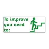 To Improve You Need To Stamper - Green Ink (38mm x 15mm)