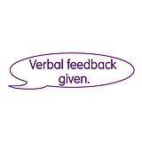 Verbal Feedback Given Stamper - Purple Ink (38mm x 15mm)