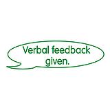 Verbal Feedback Given Stamper - Green Ink (38mm x 15mm)
