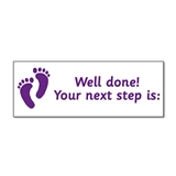 Your Next Step is Stamper - Purple Ink (38mm x 15mm)