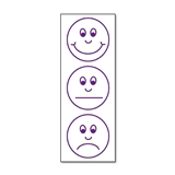 Smiley Face Expressions Stamper - Purple Ink (38mm x 15mm)