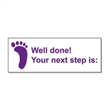 Your next step is: Stamper - Purple Ink (38mm x 15mm)