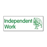 Independent Work Ant Stamper - Green Ink (38mm x 15mm)