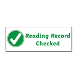 Reading Record Checked Stamper - Green Ink (38mm x 15mm)