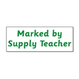 Marked by Supply Teacher Stamper - Green Stamper (38mm x 15mm)